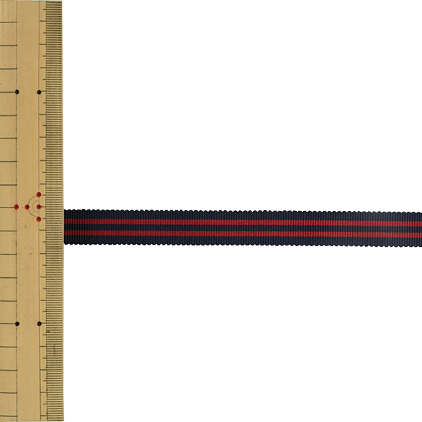 【数量5から】 リボン 『ストライプペタシャムリボン 幅約1.5cm 20番色 SIC-1120』