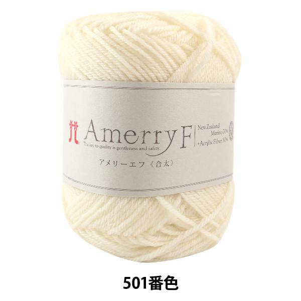 秋冬毛糸 『Amerry F(アメリーエフ) (合太) 501番色』 Hamanaka ハマナカ