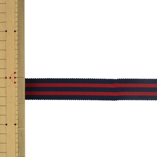 【数量5から】 リボン 『ストライプペタシャムリボン 幅約2.4cm 20番色 SIC-1120』