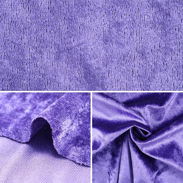 【数量5から】生地 『クラッシュベロア バイオレット 紫 GD3300-265』