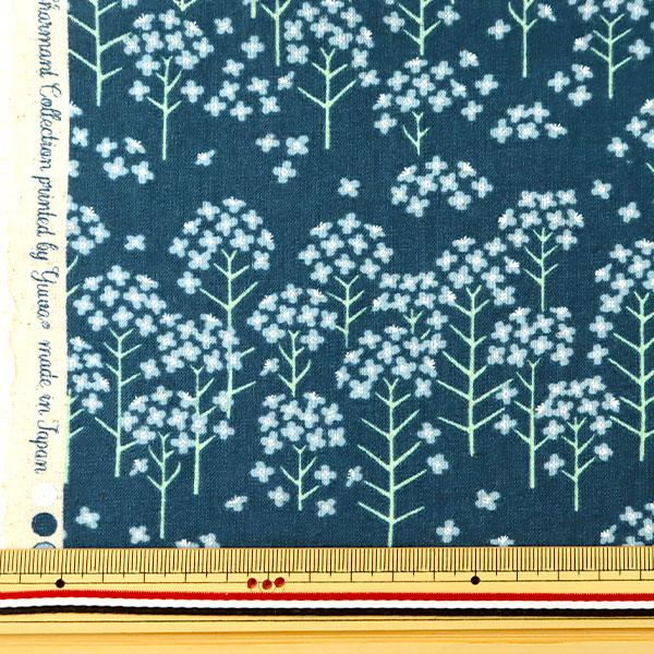 【数量5から】 生地 『綿麻シーチング 菜の花柄 CC443010-2』有輪商店