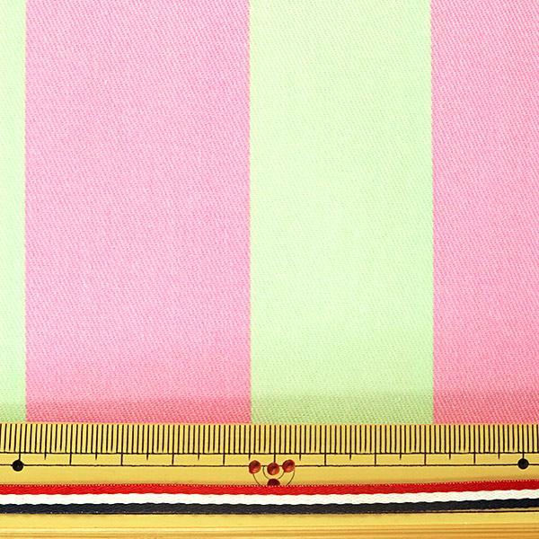 【数量5から】生地 『ツイル teiban ストライプ柄 ピンク&ミントグリーン』 KOKKA コッカ