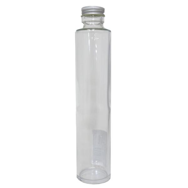 ガラスボトル丸200ml キャップ銀 314101[アミファ 花 ドライフラワー アクアリウム 植物標本 ビン]
