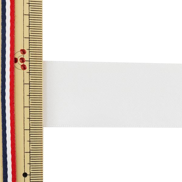 リボン 『両面サテンリボン オフホワイト 28mm×3m』