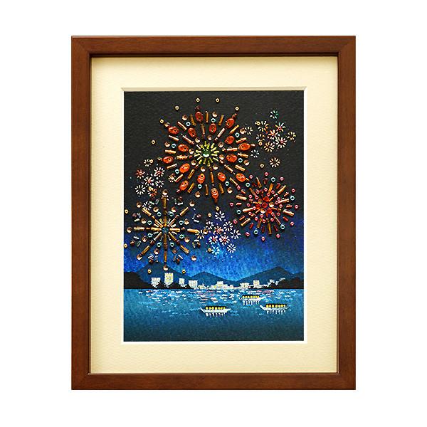 MIYUKI ビーズデコールキット 日本の四季 8月 花火/BHD-67[ビーズキット/伝統文化/額飾り/レクリエ]