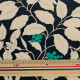 【数量5から】生地 『ツイルプリント 木の実と花柄 ネイビー KSP5541-B』 COTTON KOBAYASHI コットンこばやし 小林繊維