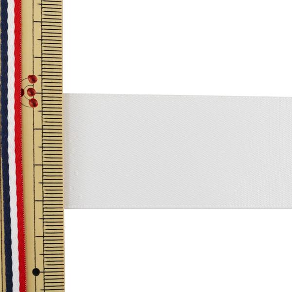 リボン 『両面サテンリボン オフホワイト 32mm×3m』