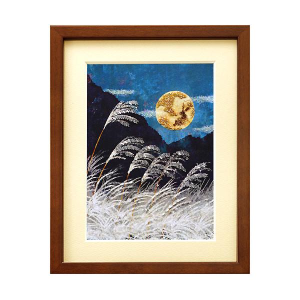 MIYUKI ビーズデコールキット 日本の四季 9月 ススキと月/BHD-68[ビーズキット/伝統文化/額飾り/レクリエ]