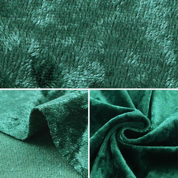 【数量5から】生地 『クラッシュベロア グリーン 深緑 GD3300-258』