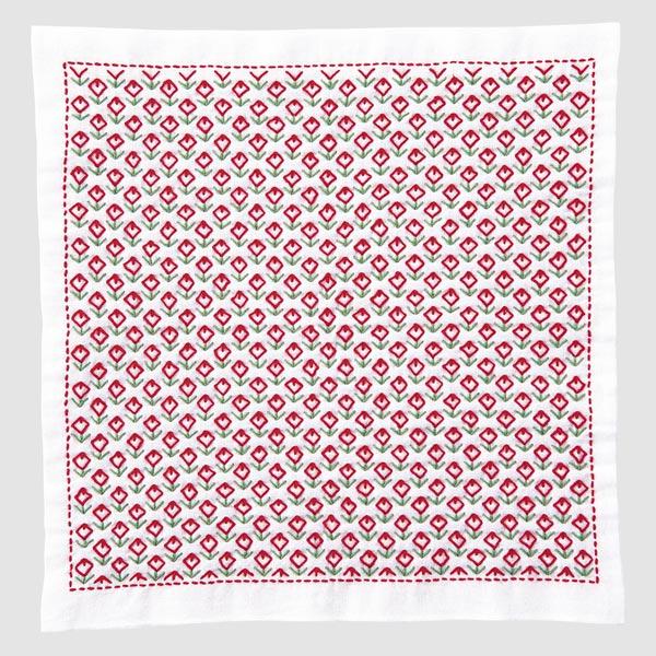 刺しゅうキット 『一目刺しの花ふきん H-1076 お花畑』 Olympus オリムパス