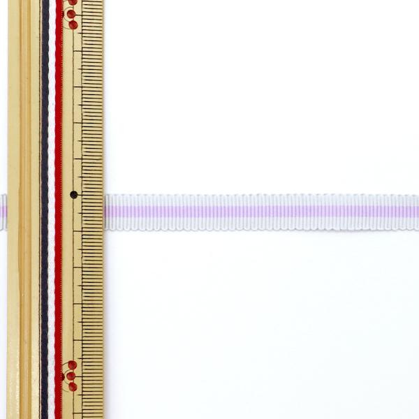 リボン 『1反売り 先染めペタシャムリボン 9mm幅×約3m巻 紫 007番色』