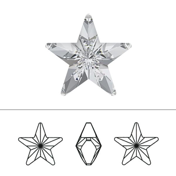 スワロフスキー 『#4745 Star クリスタルシルバーシェード 10mm 1粒』 SWAROVSKI スワロフスキー社