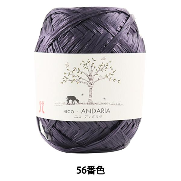手芸糸 『エコアンダリヤ 056 (紫) 番色』 Hamanaka ハマナカ