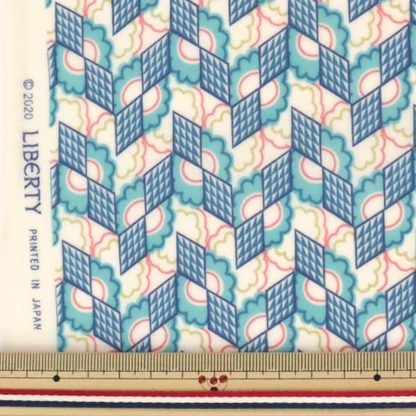 【数量5から】生地 『LIBERTY リバティプリント ラミネート リフラクション ブルー』 Liberty Japan リバティジャパン