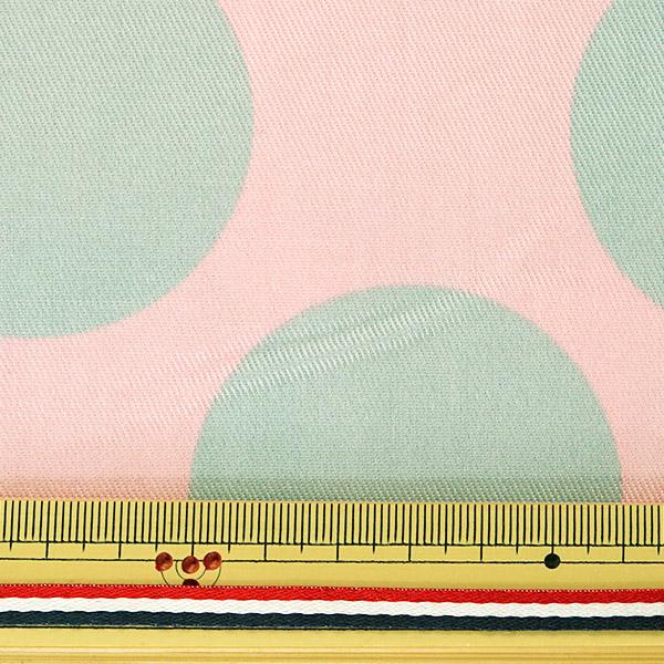 【数量5から】生地 『ツイル teiban 水玉柄 グレー&ピンク』 KOKKA コッカ