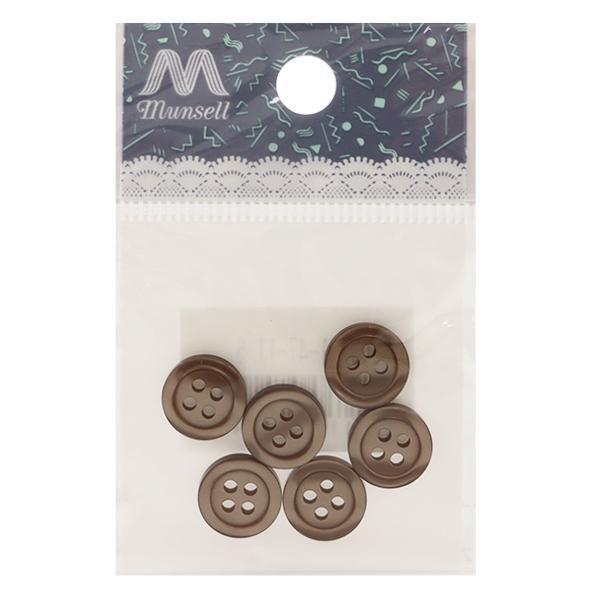 ボタン 『シャツボタン 四つ穴 11.5mm 6個入り 47番色 PVSO9001-47-11.5』