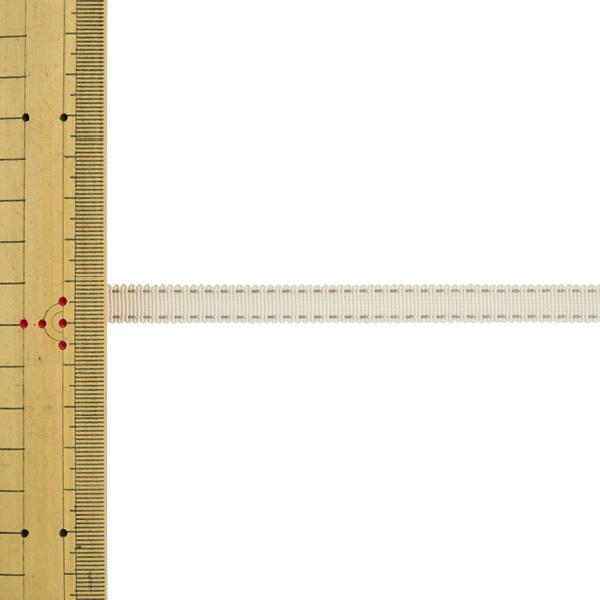 【数量5から】 リボン 『ステッチグログランリボン 4649K 幅約9mm 12番色』 MOKUBA 木馬