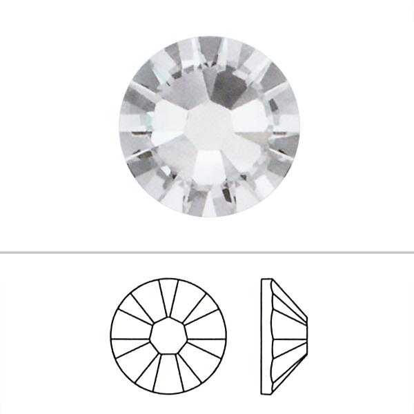 スワロフスキー 『#2058 SS5 XILION Rose Enchanced Flat Back No-Hotfix ブラックダイヤシマー 20粒』 SWAROVSKI スワロフスキー社