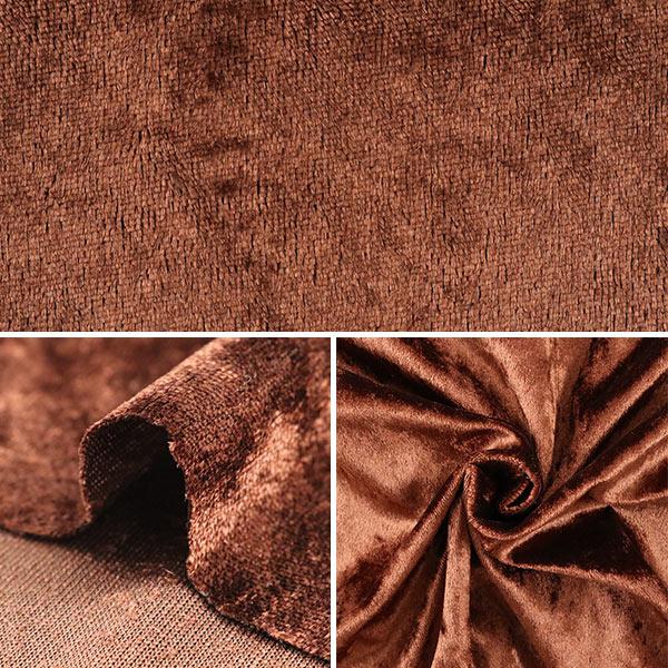 【数量5から】生地 『クラッシュベロア ブラウン 茶色 GD3300-217』