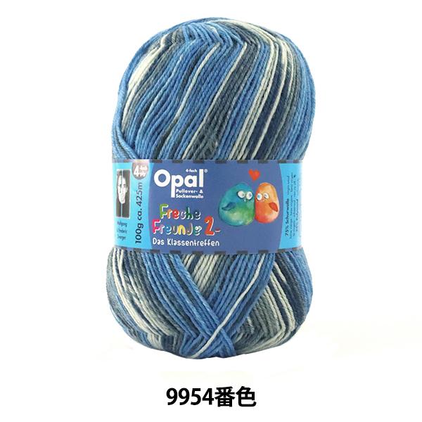 ソックヤーン 毛糸 『Freche Freunde2(フレッシェフロインテ2) 9954』 Opal オパール