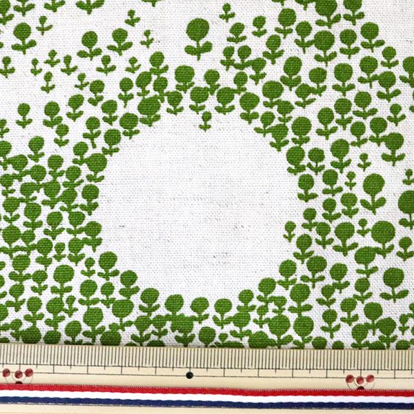 【数量5から】生地 『綿麻キャンバス れんげ畑 UP5696-D う早この布』 COTTON KOBAYASHI コットンこばやし 小林繊維