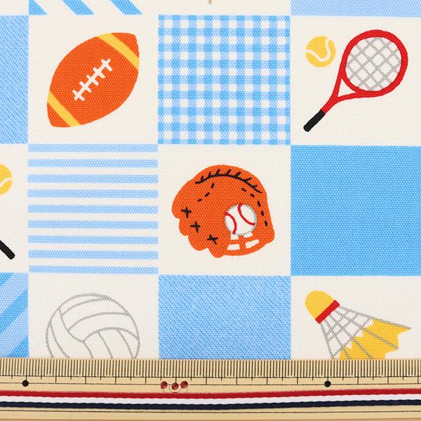 【数量5から】生地 『Tip-top collection (ティップトップコレクション) スポーツ 水色A オックス』
