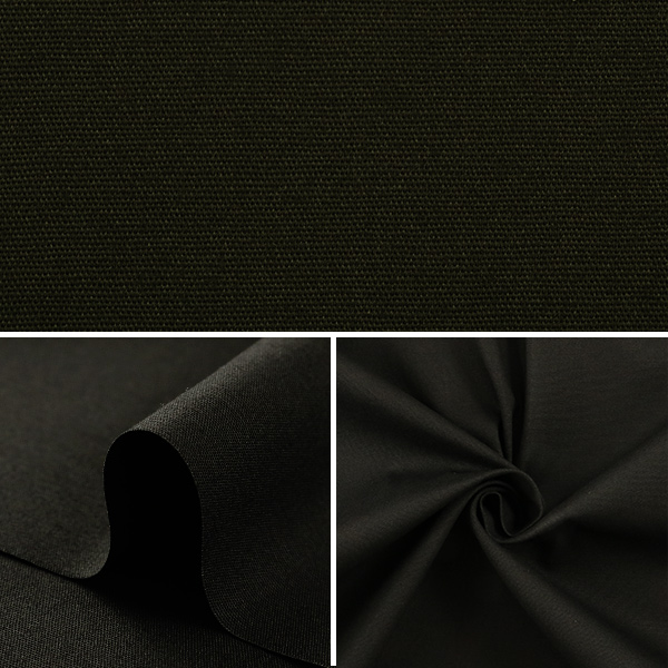 【数量5から】生地 『のびるブロード (40ブロードストレッチ) 9ブラック』