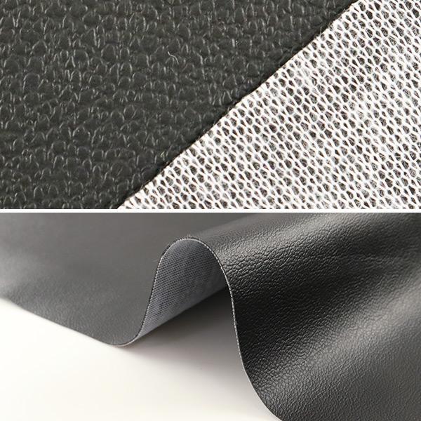 【数量5から】生地 『ロイヤルレザーナ ブラック PVC6500-99BK』