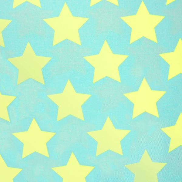 【星モチーフ最大20%オフ】 【数量5から】 生地 『ツイル teiban 星柄 ライトグリーン&水色』 KOKKA コッカ
