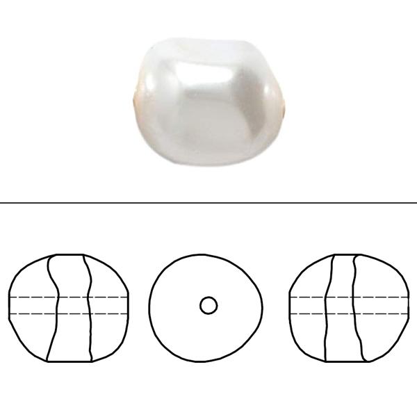 スワロフスキー 『#5840 Round Pearl Bead (Half Drilled) ライトクリームローズパール 8mm 4粒』 SWAROVSKI スワロフスキー社