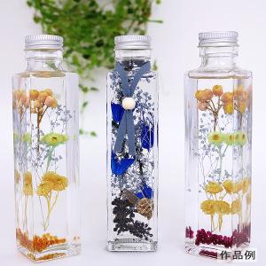 ハーバリウムボトル 『ガラスボトル六角150ml キャップ銀 314112』 amifa アミファ