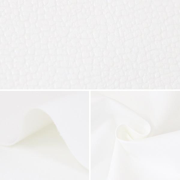 【数量5から】生地 『サニーレザー ホワイト 43042-1』