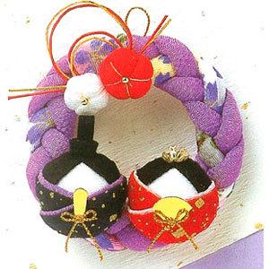 節句手芸キット 『ちりめん細工 ちりめん細工 リース雛 紫 LH-3』 Panami パナミ タカギ繊維