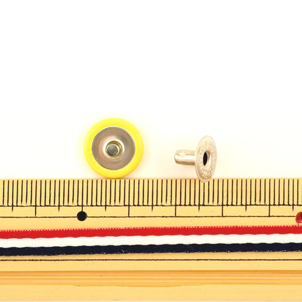 手芸金具 『ホック 大 黄 10個入り 1046-03』 LEATHER CRAFT クラフト社