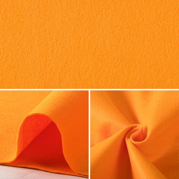 【フェルト・羊毛最大20%オフ】 【数量5から】生地 『ウォッシャブルフェルト オレンジ』 SUN FELT サンフェルト