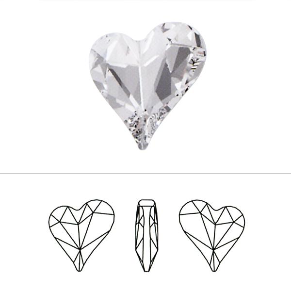 スワロフスキー 『#4809 Sweet Heart Fancy Stone クリスタル 13×12mm 1粒』 SWAROVSKI スワロフスキー社