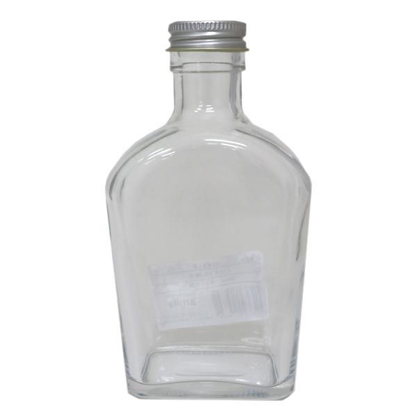 ハーバリウムボトル 『ガラスボトル薄型200ml キャップ銀 314118』 amifa アミファ