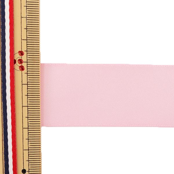 リボン 『両面サテンリボン ピンク 28mm×3m』