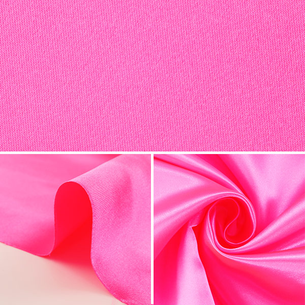 【数量5から】生地 『セラミカサテン 310-5 蛍光ピンク』