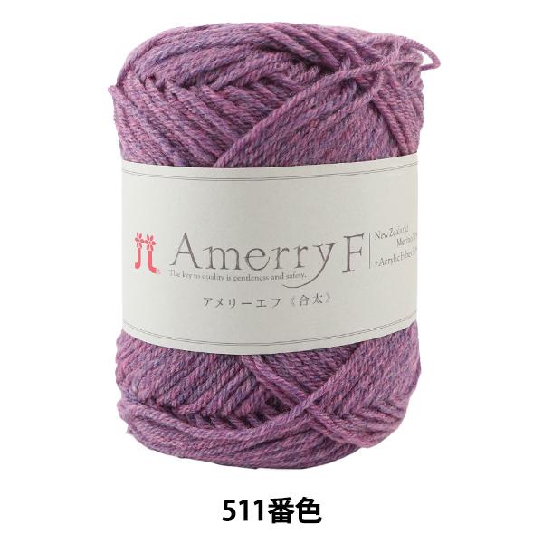 秋冬毛糸 『Amerry F(アメリーエフ) (合太) 511番色』 Hamanaka ハマナカ