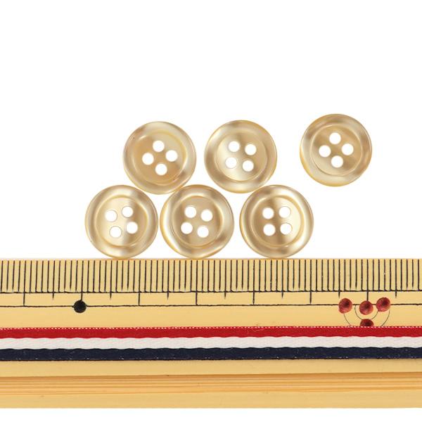 ボタン 『シャツボタン 四つ穴 13mm 6個入り 40番色 PVSO9001-40-13』