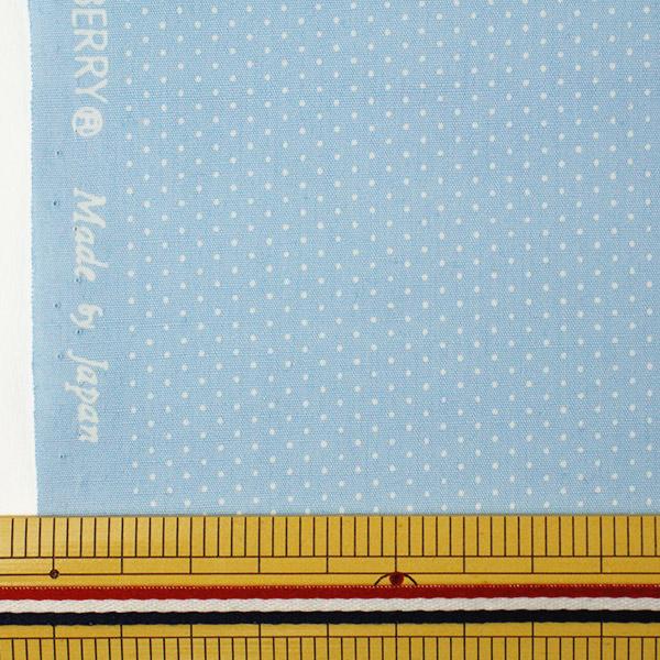 【数量5から】生地 『水玉ブロードプリント極小 (1-33) 水色地×白』