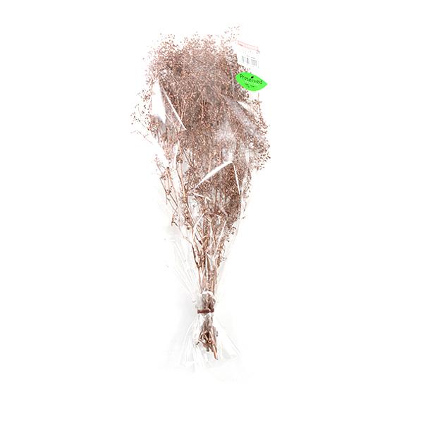 プリザーブドフラワー 『ソフトミニカスミ草 ローズゴールド 74401』