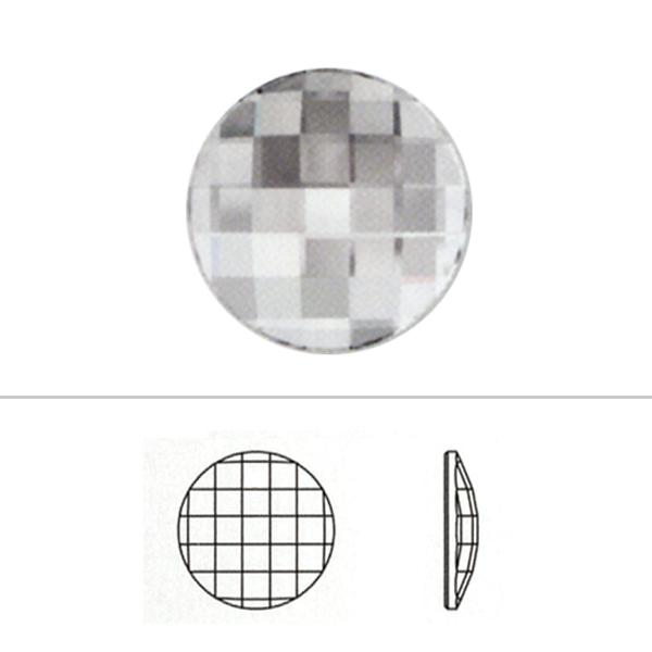 スワロフスキー 『#2035 Chessboard Circle ジェットアンフォイル 20mm 1粒』 SWAROVSKI スワロフスキー社