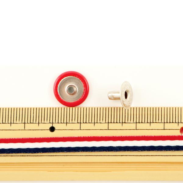 手芸金具 『ホック 大 赤 10個入り 1046-02』 LEATHER CRAFT クラフト社