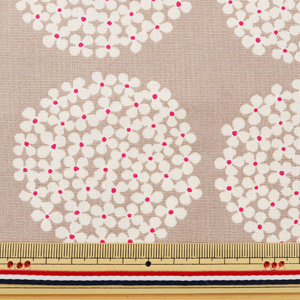 【数量5から】生地 『う早この布 10番キャンバス あじさい柄 UP5553-G パールグレー』 COTTON KOBAYASHI コットンこばやし 小林繊維