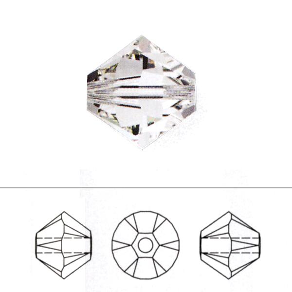 スワロフスキー 『#5328 XILION Bead ホワイトオパール 3mm 100粒』 SWAROVSKI スワロフスキー社