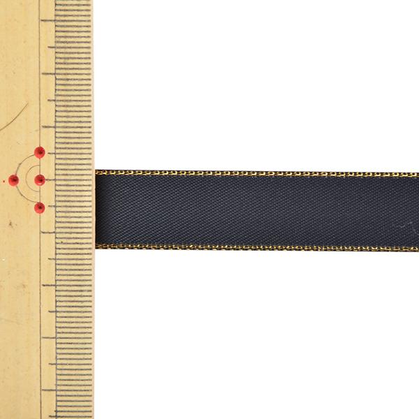 リボン 『メタリックエッジサテンリボン 58801 1.6cm幅×5m 一反売り 30番色』
