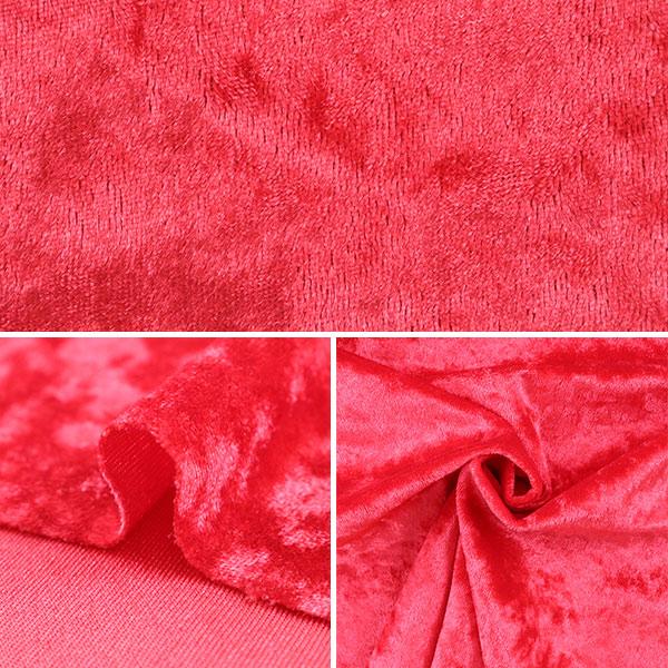 【数量5から】生地 『クラッシュベロア レッド 赤 GD3300-149』