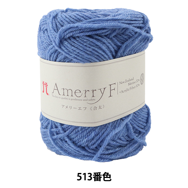 秋冬毛糸 『Amerry F (アメリーエフ) (合太) 513番色』 Hamanaka ハマナカ
